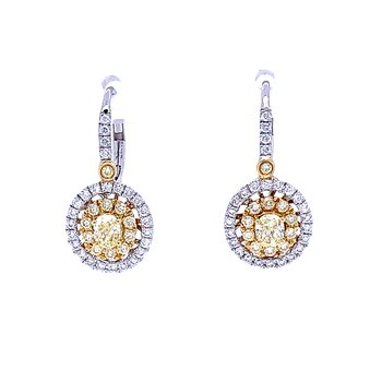 Yellow Diamond Dangles