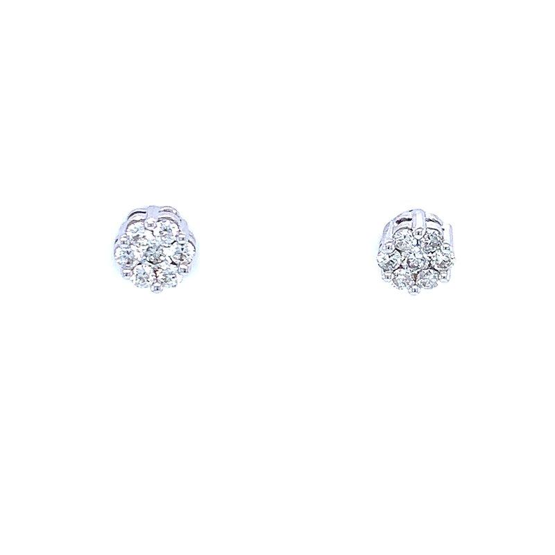 Bryan Beauties Flower Cluster Earrings 1/3ctw 10kw