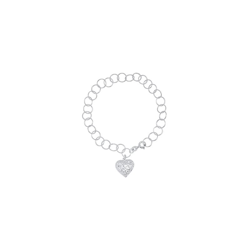 Bryan Beauties Charm bracelet with puffed heart dangle