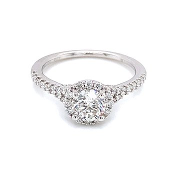 Romance Round Halo Engagement Ring