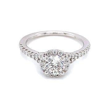 Romance Round Halo Engagement Ring