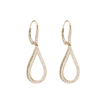 Tear Drop Shaped Diamond Earrings