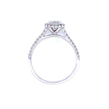 Diamond Halo Engagement 3/4ctw
