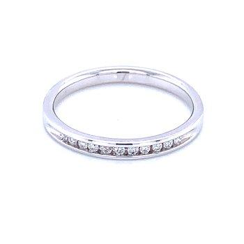 Channel Set Diamond Wedding Band 14kw-1/10ctw