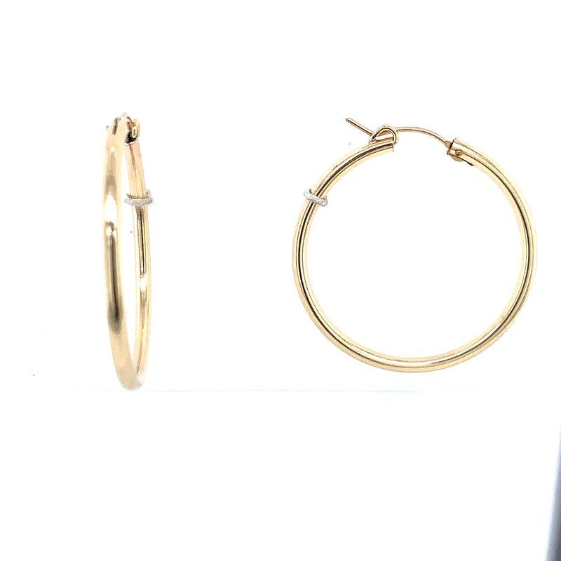 Bryan Beauties Classic Gold Hoop Earrings - 30mm