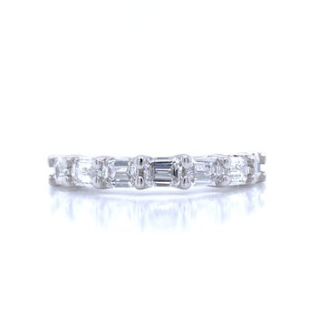 7 Diamond Emerald Cut Band-1 1/2ctw