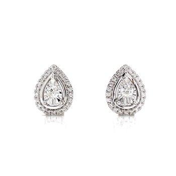 Tear Drop Diamond Fashion stud Earrings