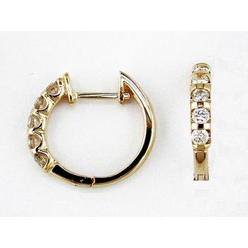 1/2ctw Diamond Hoop-14ky