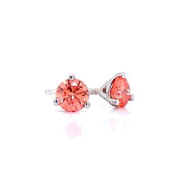 Evolv-Pink Diamond Earrings 1/4ctw