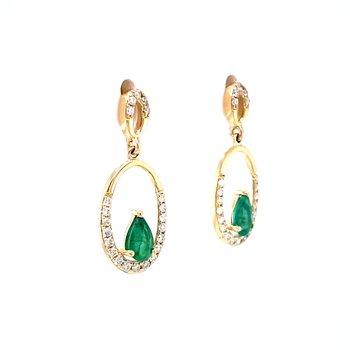 Emerald & Diamond Dangles