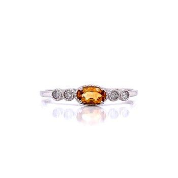 Sideways Citrine Ring