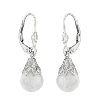 Floating Opal Dangle Earrings in Sterling