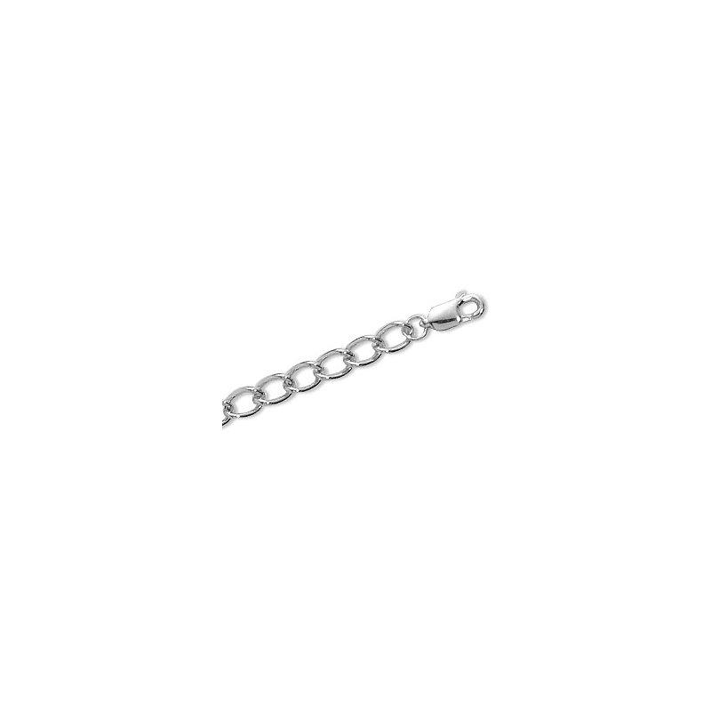 Carla Open Link Charm Bracelet in Sterling