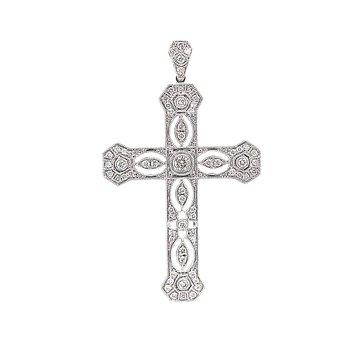 Sheer Elegance Diamond Cross