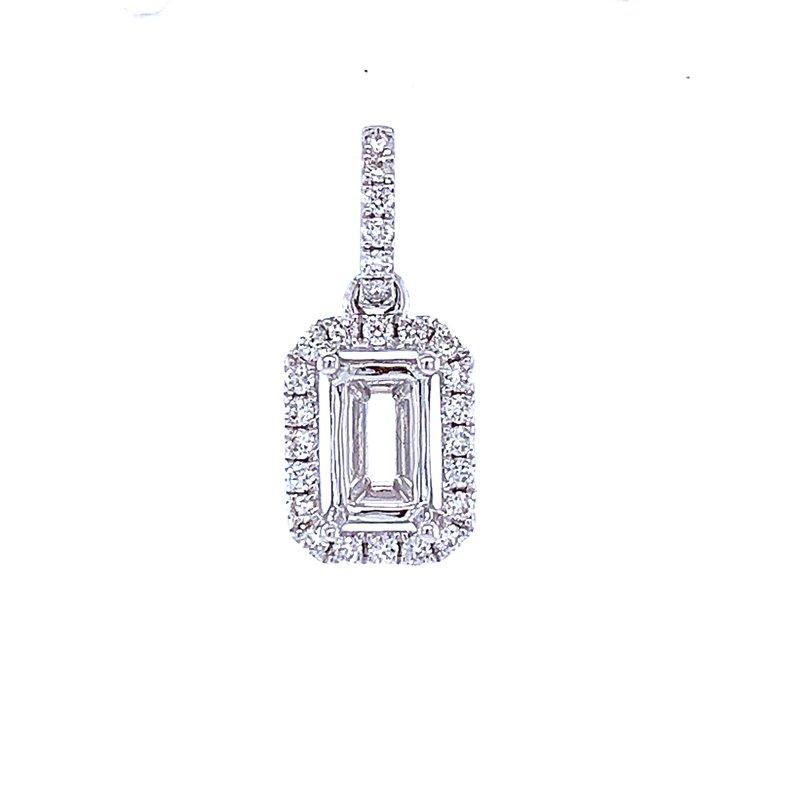 Bryan Beauties 6x4 Emerald cut Semi-mount Pendant