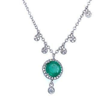 Meira T Emerald Drop Necklace