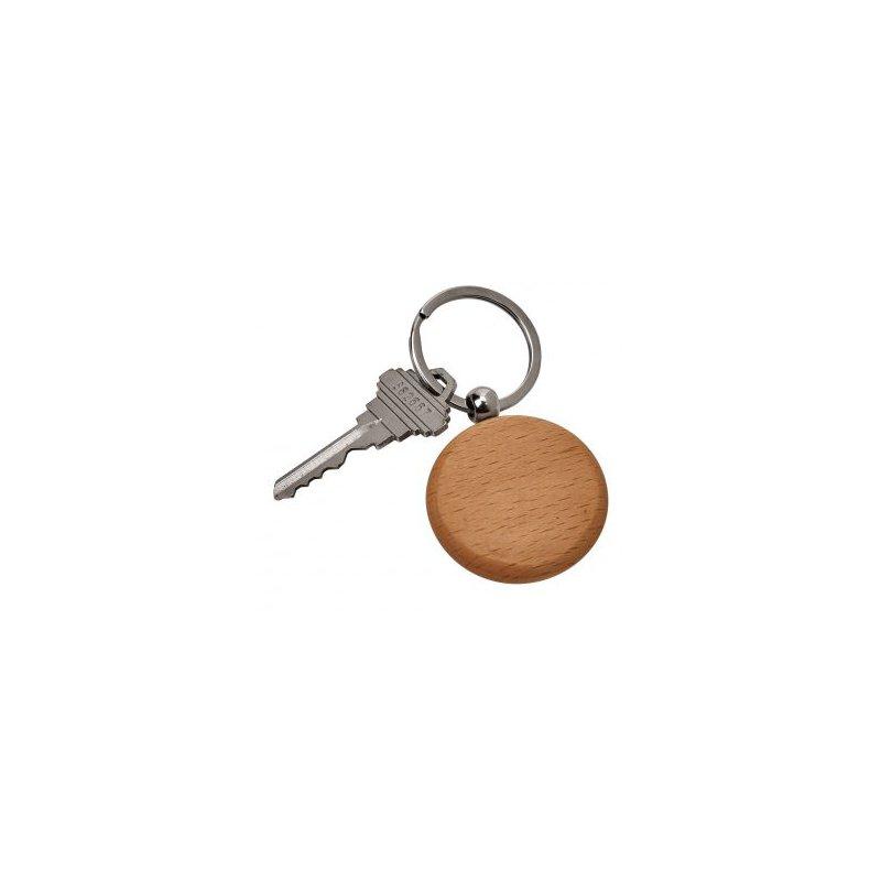 Bryan Beauties Round Wooden Key Ring