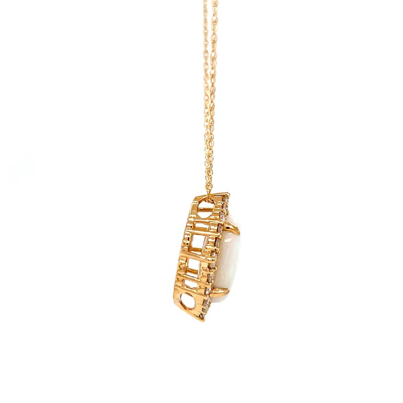 Bryan Beauties Find Your Direction Opal Pendant - Yellow Gold