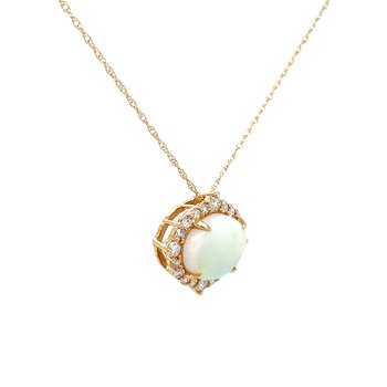 Find Your Direction Opal Pendant - Yellow Gold