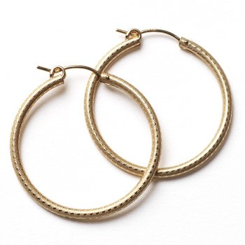 Gold Filled Round Hoop Earring - 30mm