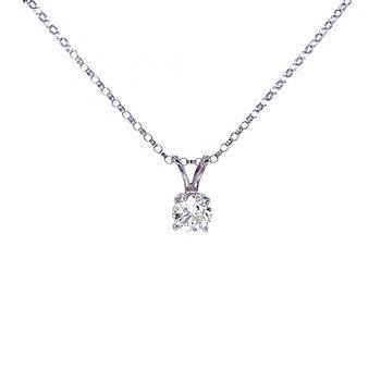 1/2 carat Solitaire Diamond Pendant