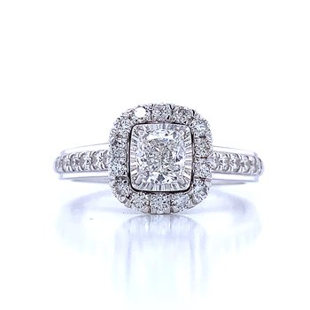 1 ctw Tru-reflections Halo Engagement Ring
