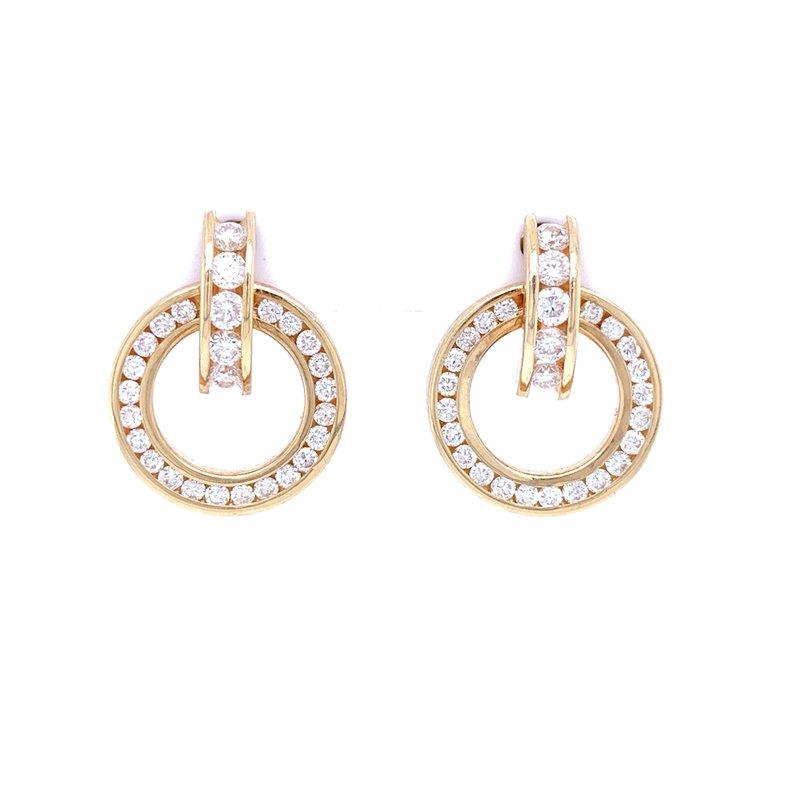 Bryan Beauties Circle Diamond Earrings