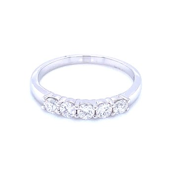 5 Stone Diamond Band 1/2ctw