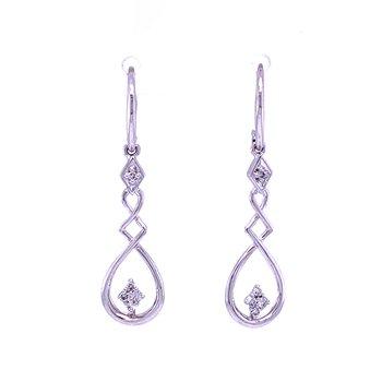 Sterling Silver Diamond Dangles