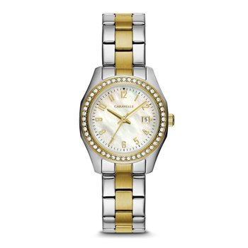 Caravelle tt Sport Watch with Crystals on Bezel of Case