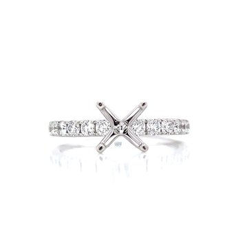 Prestigious Diamond Semi-mount to match 1/2ctw Band-14kw