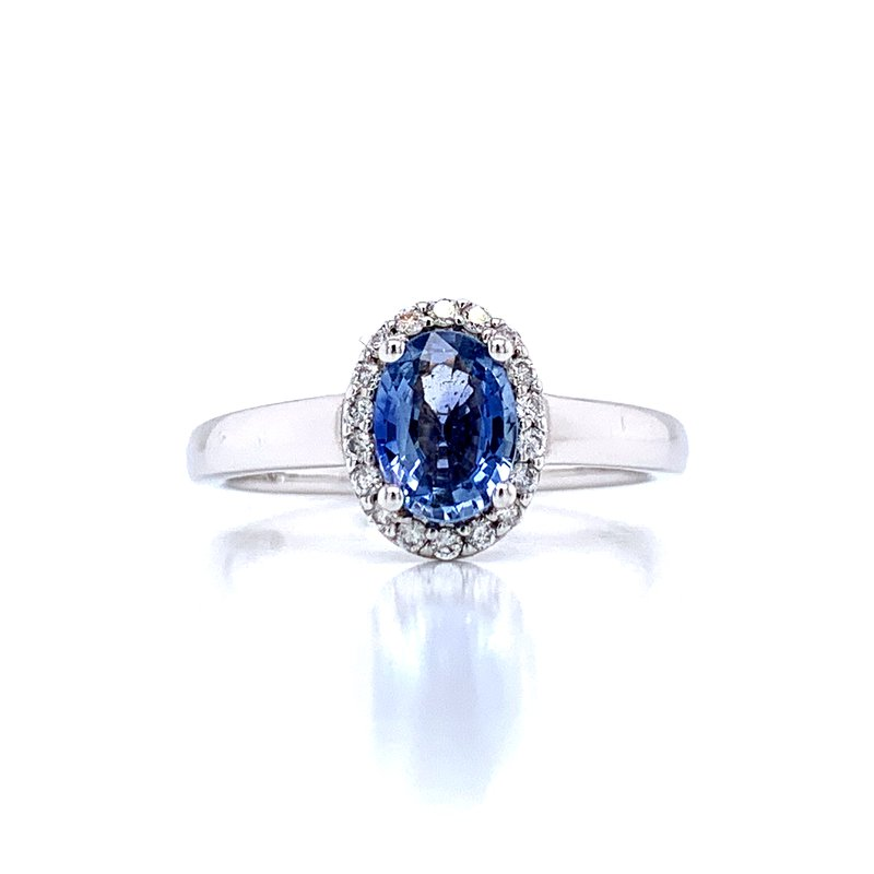 Ostbye Cornflower Blue Sapphire & Diamond Ring
