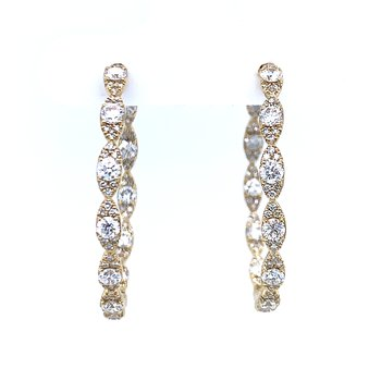 Stunning Diamond Hoops
