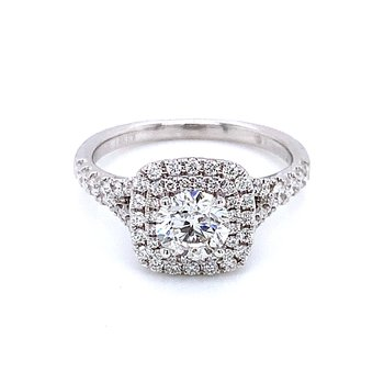 Romance Double Halo Engagement Ring