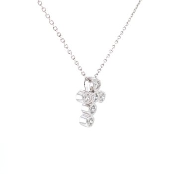 Sweet Expressions Bezel set Diamond Cross Pendant