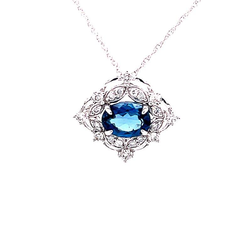 Bryan Beauties Delightful London Blue Topaz Pendant
