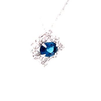 Delightful London Blue Topaz Pendant