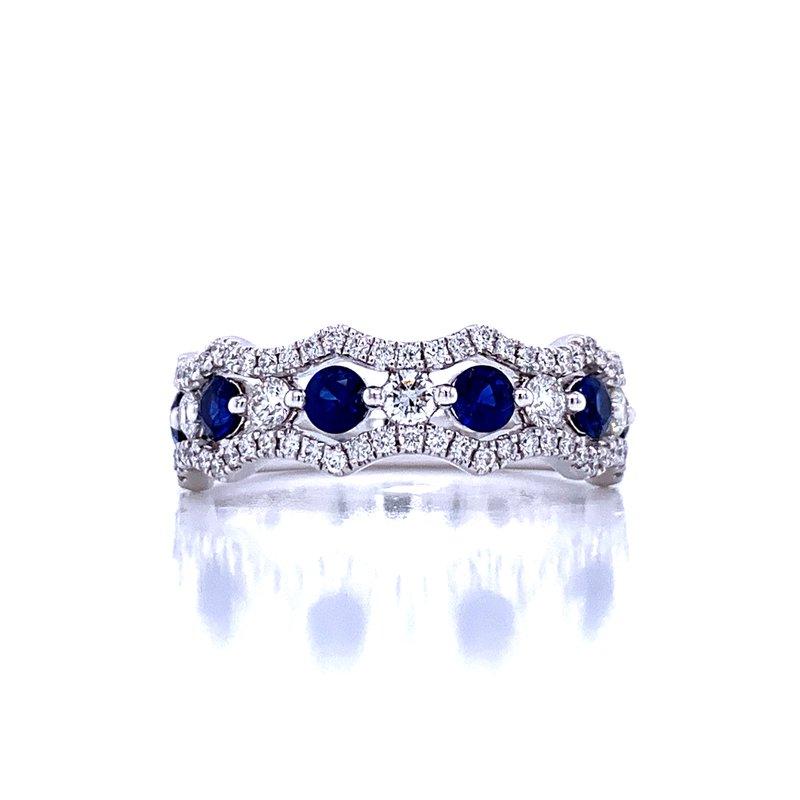 Bryan Beauties Crown of Beauty Sapphire & Diamond Band