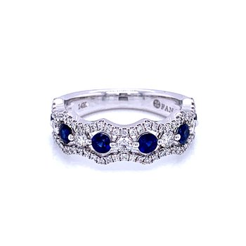 Crown of Beauty Sapphire & Diamond Band