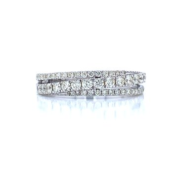 Diagonal Row Diamond Band