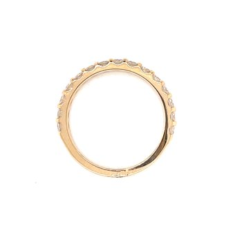 11 Diamond Shared Prong Band-3/4ctw-14ky