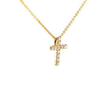 Expressions of faith 1/4ctw Diamond Cross-14ky