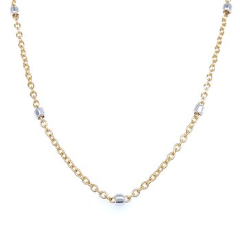 Gold with Silver Sparkle Chain - 16 inches