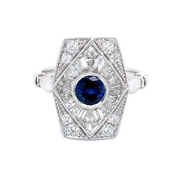 Breath Taking Sapphire & Diamond Dream Ring