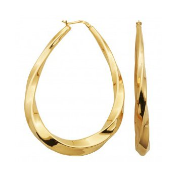 Statement Hoop Earrings in Yellow