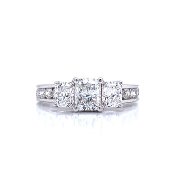 Radiant Three Stone Diamond Ring