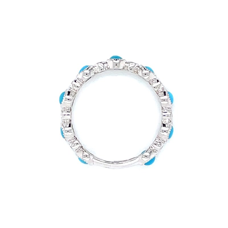 Bryan Beauties White Gold Turquoise Stackable
