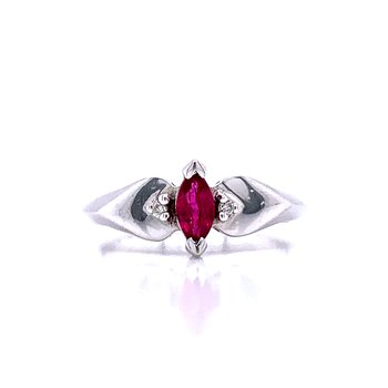 Sweet Marquise Ruby Ring