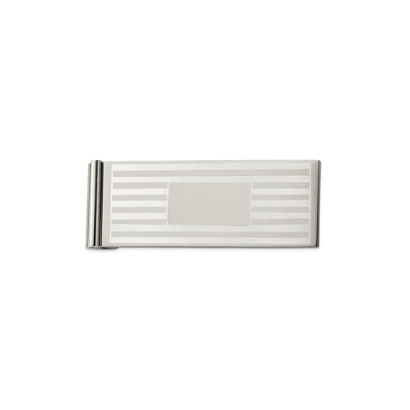 Bryan Beauties Money clip in stainless with Engine turned design