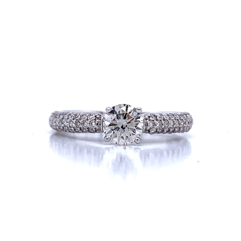 Bryan Beauties Solitaire with Pave' Diamond Shank